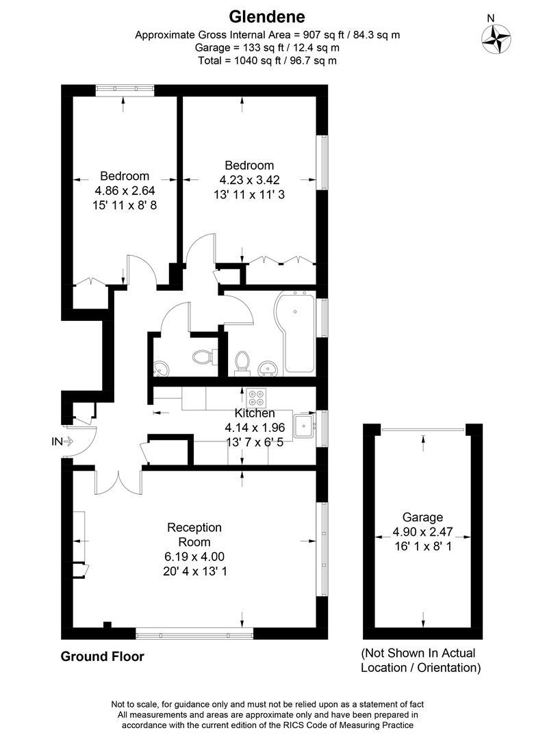 Floorplan for Glendene, Victoria Drive, London